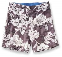 Flower Print Surf Shorts